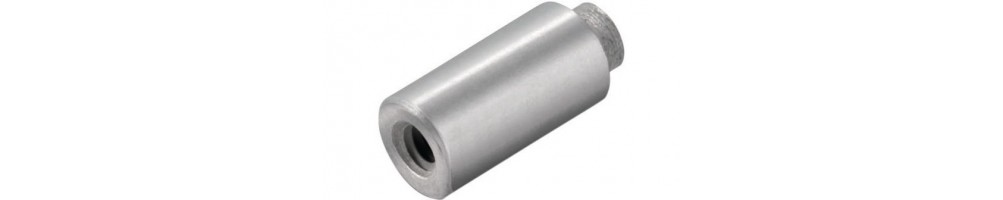 Metal spacers for surface mounting